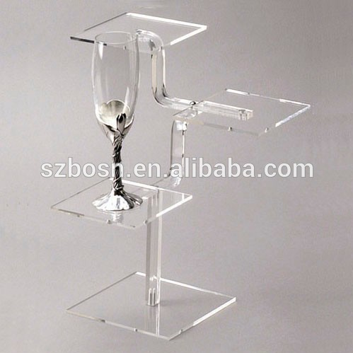 10 Years Experience Custom Acrylic Stem Display Shelf Stand For Sale