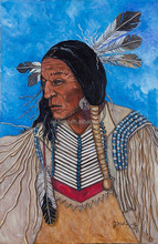 Portrait of old Indian habitant oil painting design 57712