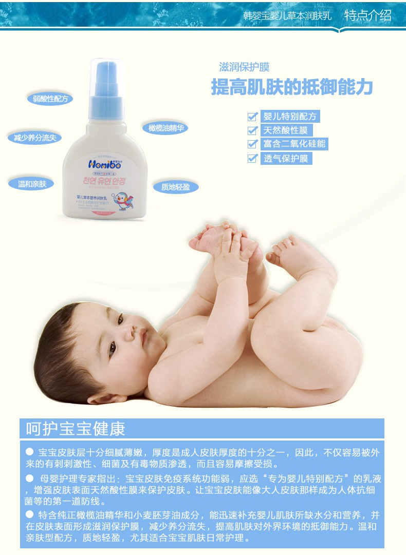 Private label body lotion baby nourishing herbal baby body lotion