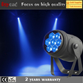 Guangzhou cheap price list 7x15w 4 in 1 rgbw led mini flat zoom beam mini stage light par with DMX controller