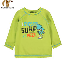 Little kids rashguard custom long sleeve boy swimsuit model