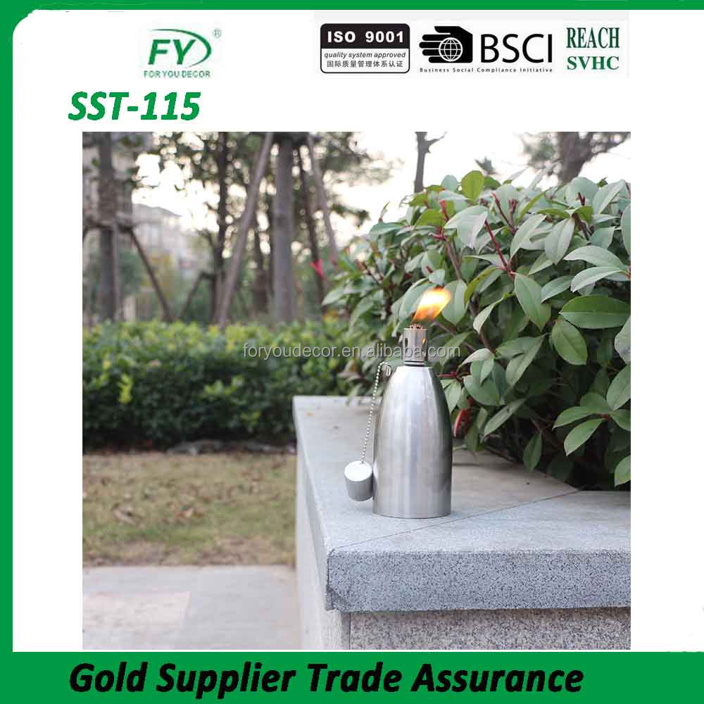 SST-115 Bullet design Outdoor decoration table top stainless steel oil lamp