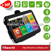 factory bottom price 4.3 inch gps navigation system bluetooth reverse camera with 800MHz CPU
