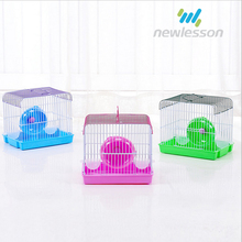 environmentally friendly PP material double feeders cages for hamster