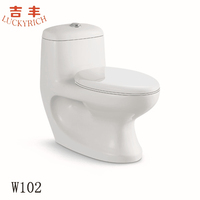 W102 one piece wash down toilet white closet sanitary ware