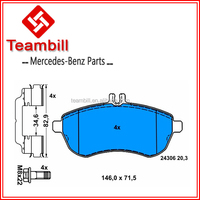 car brake pads for mercedes w204 auto parts 0054200820