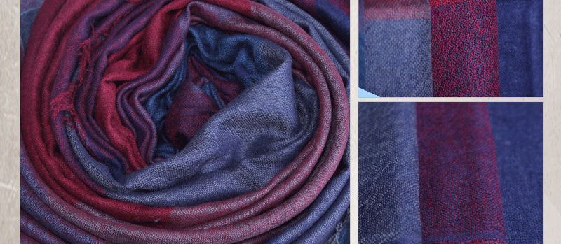 Large Size wholesale in Inner Mongolia Velvet big plaid shawl SWC405(2) Cashmere scarf