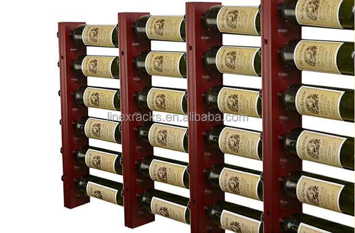 linex wholesale wooden wall mounted wine racks customized wine cellar