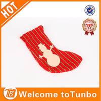 Wholesale promotional diy stocking decoration primitive funny make christmas crafts