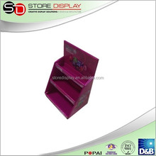 Cardboard countertop display units 2 tier cardboard candy display