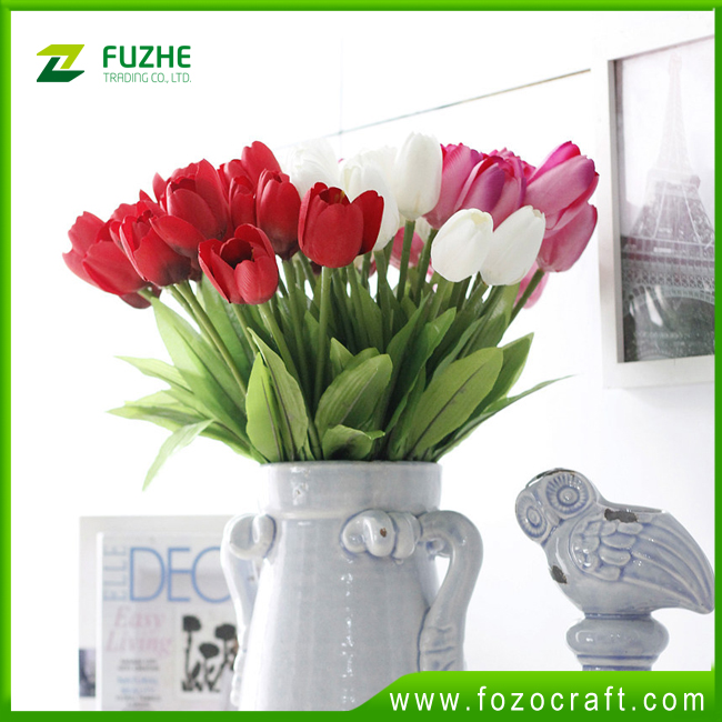 Wholesale Cheap high quality Artificial Fabric Tulips flowers for home,wedding decoration