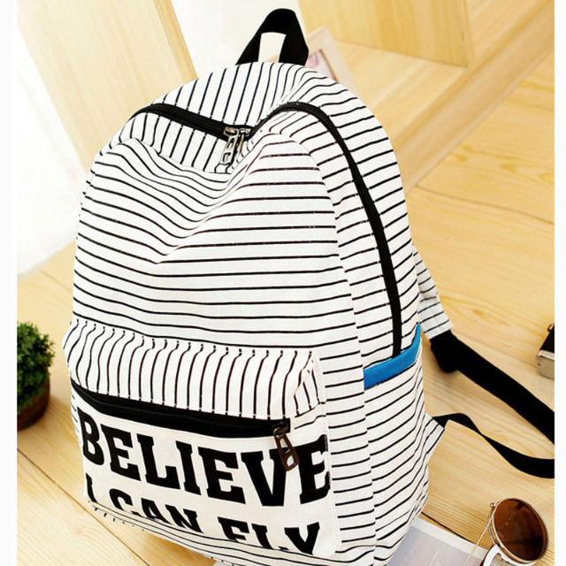 4 Colors Exclusive Handmade Vintage Rucksack Striped Canvas Women Backpack Mujer Mochila Escolar Feminina School Bag Sac a Dos