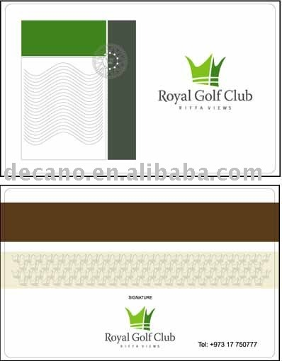 PVC Magnetic stripe Card Hi co and Lo co