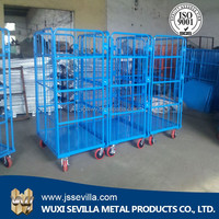 Warehouse 4 Wheel Heavy Duty Metal Industrial Trolley Cart Price