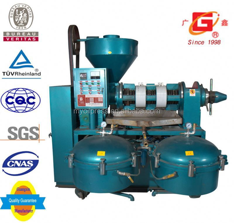 small scale oil refinery maize germ oil cold and hot screw press auto oil making equipment with filter