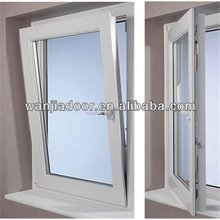side hinged window/swing and hinged windows/60 series pvc tilt window/guangzhou
