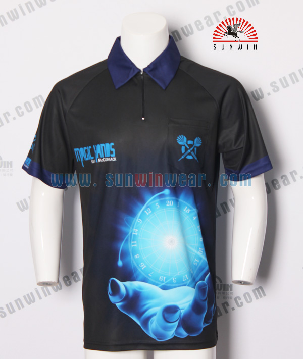 Customized wholesale jersey mens darts shirt dart cloth