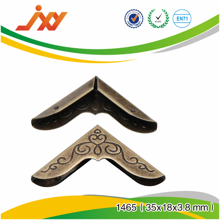 Wholesale angle box protective hardware brass corners for furniture