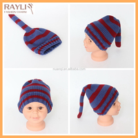Funny adorable animal long tail baby kids funky tail pattern knitted beanie hat