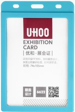 Big size exhibition id card holder, jumbo colorful id card holder