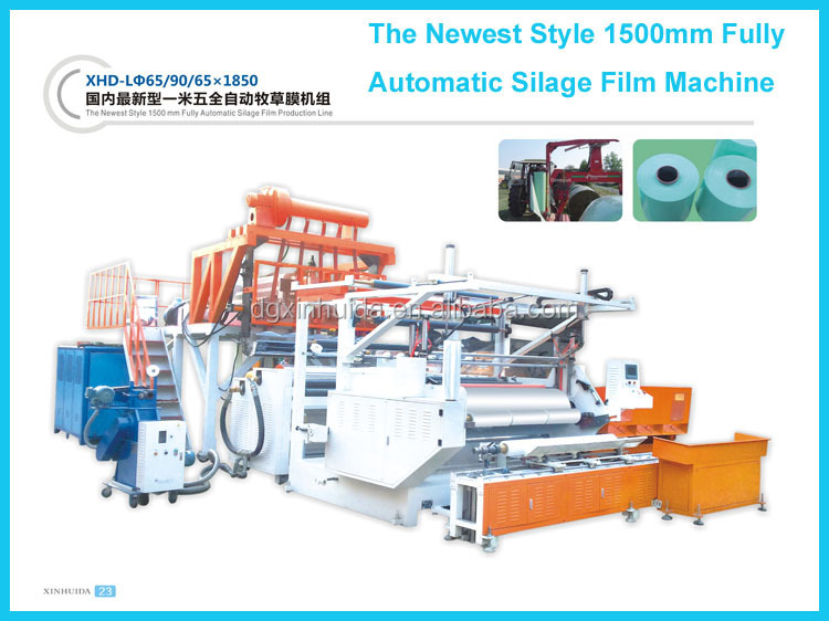 Fully Automatic 1500mm Plastic Silage Stretch Film Machinery