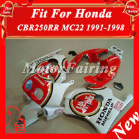 CBR250 MC22 Fairings Kit for Honda CBR250RR 1991-1998 CBR 250RR 91 92 93 94 95 96 97 98 CBR250R 91-98 ABS red white MC22 fairing