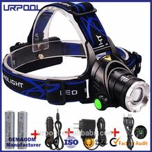 camping led headlamp t6 head lamp led for hunting t6 led 3 mode lantern