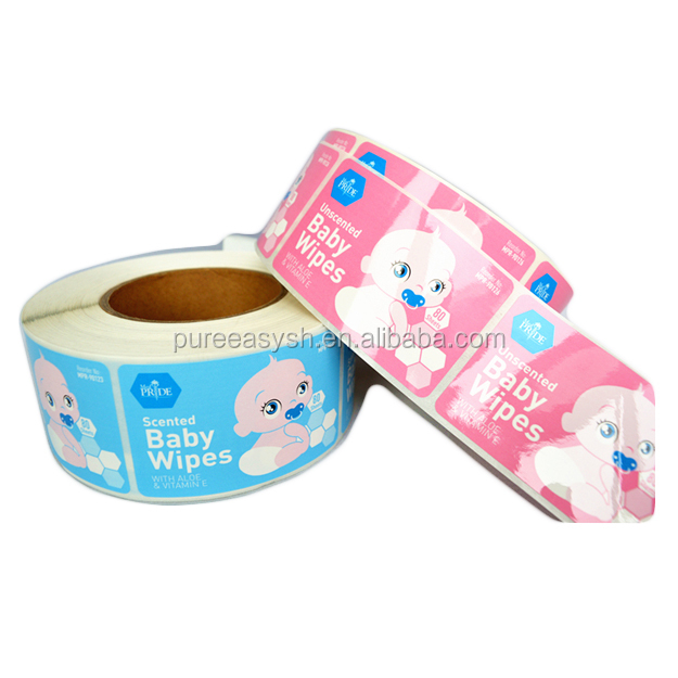 Private label cheap price baby wet wipe label