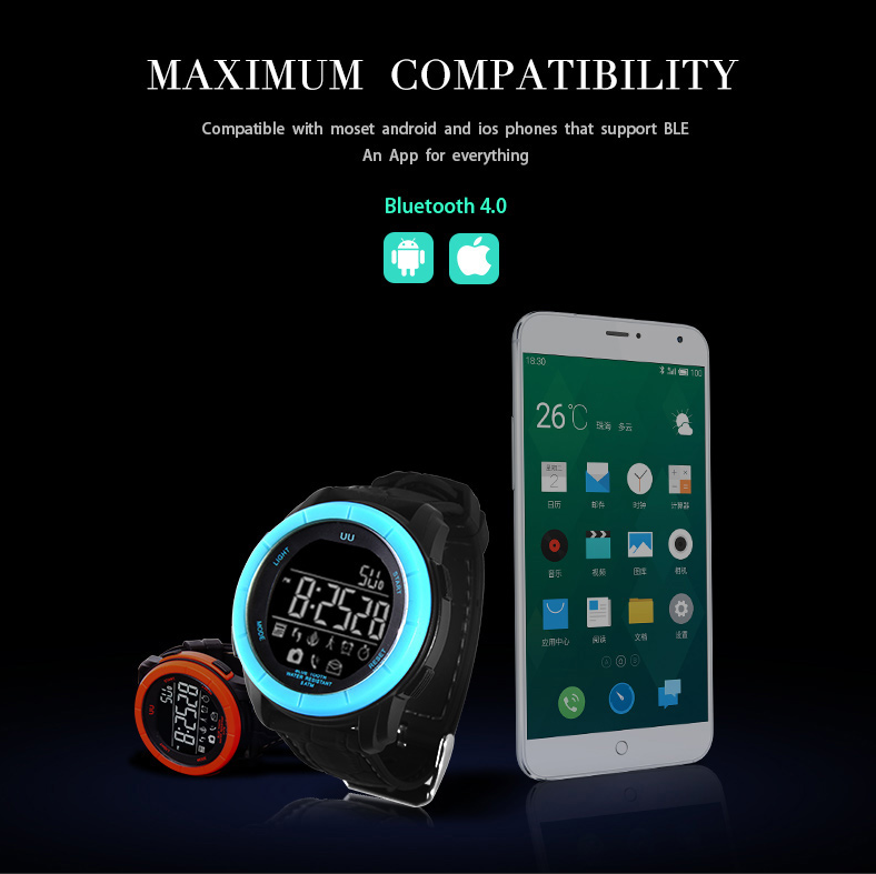 SMS QQ messagne pushing smartwatch for ios compatible