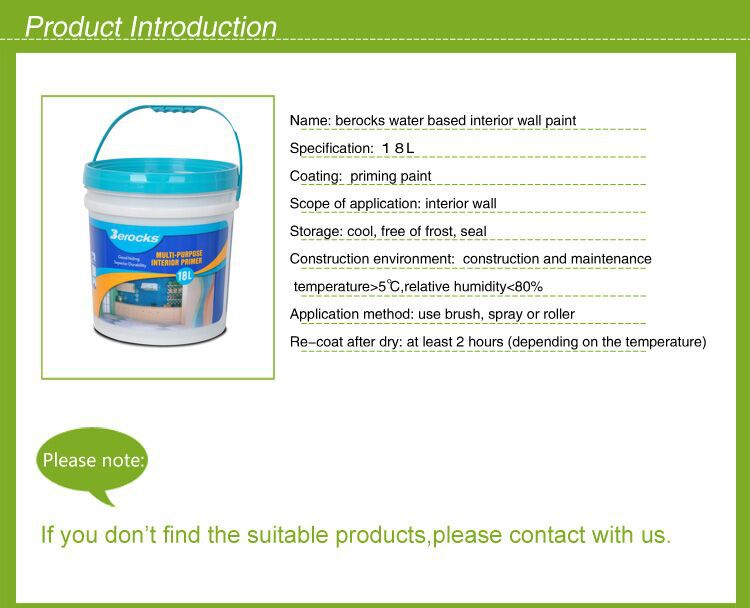5L/18L Environmental-friendly Water based Acrylic emulsion paint