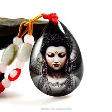 OEM Graceful good quality crystal buddha pendant necklace hottest Buddha amulet pendants jewellery for religions