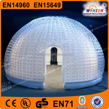 Giant inflatable clear transparent geodesic dome tent on sale