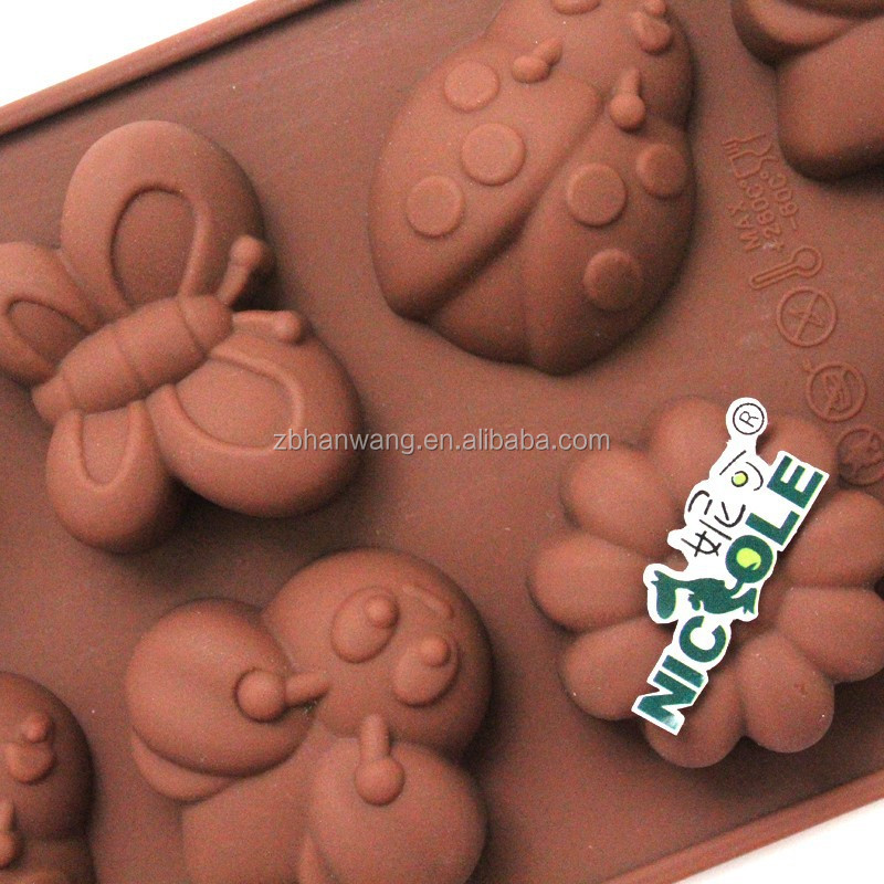 B0181 Cartoon Mickey Mouse in 16 cavity silicone cake tool chocolate mold