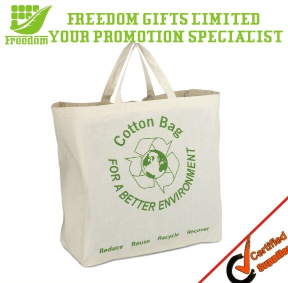 Hot Selling Customized Logo Printed Cotton shopping tote bags