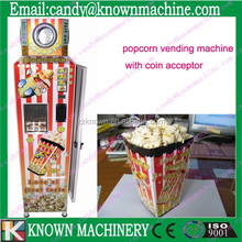 full automatic pop corn machine with coin acceptor