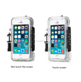 phone case waterproof built-in,wide-angle glass lens for iphone 4/4s&5/5s