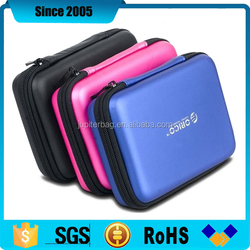 pu leather cover waterproof 2.5inch eva portable hard disk travel case