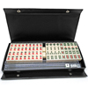 Black PVC Packaging Ivory Colored Traveling Mahjong Tiles Set Game