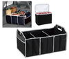 600D/PVC 170T pu folding car trunk organizer with cooler