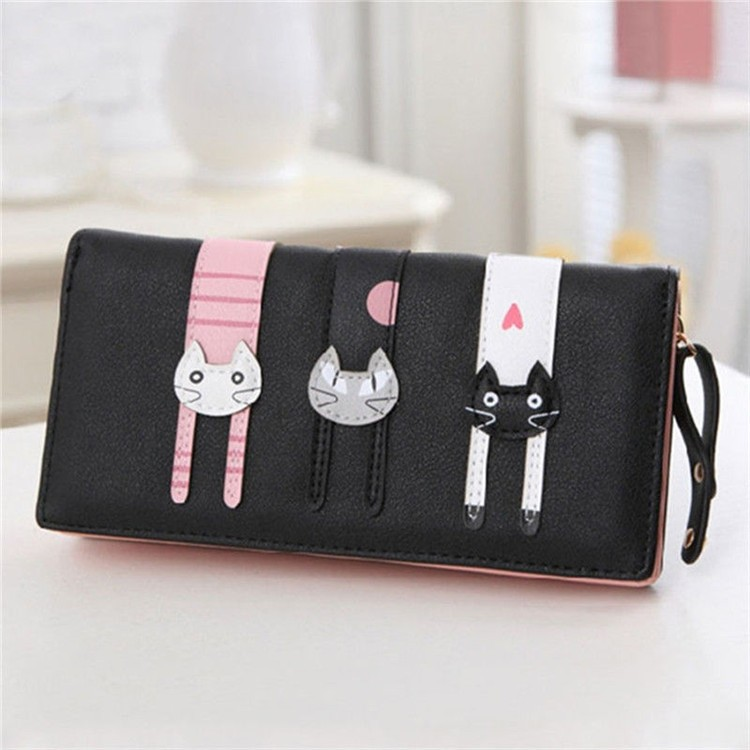 ChinaTrends Leather Clutch Bag Credit Card Purse Wallet
