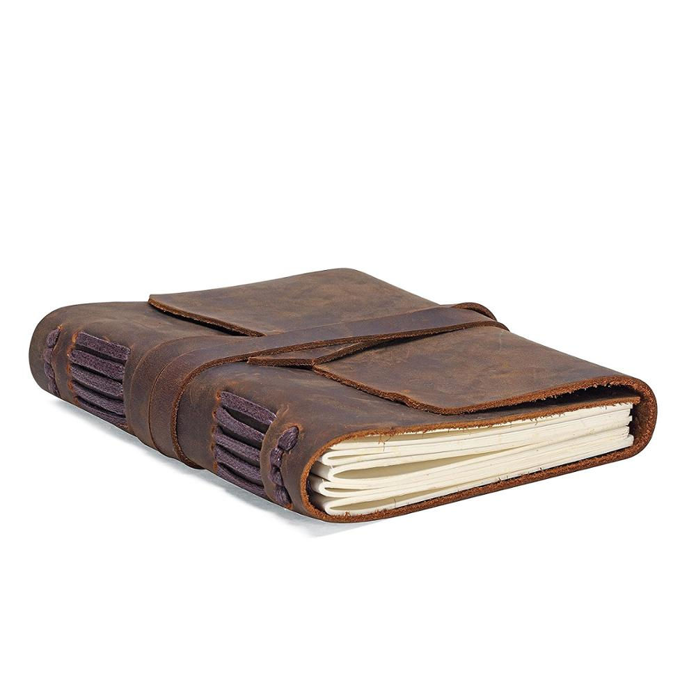 Leather Journal Travel Diary Handmade Vintage Bound Notebook For Men & Women