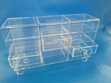 Wholesale Clear acrylic makeup organizer cosmetic organizer and Large 3 Drawer Jewerly Chest or makeup