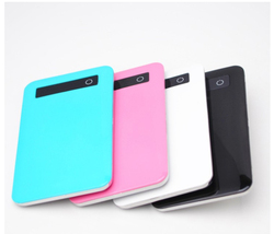 ultra thin slim portable battery charger backup power bank 4000mAh external battery for mobile phone battery bank