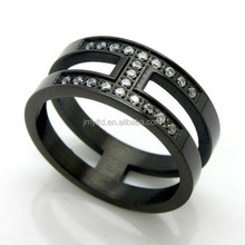 cheap high-grade stainless steel inlaid titanium rings female models CZ Ring
