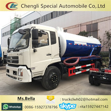 8000 litres Euro IV With Pump Sewage Suction Tanker Truck