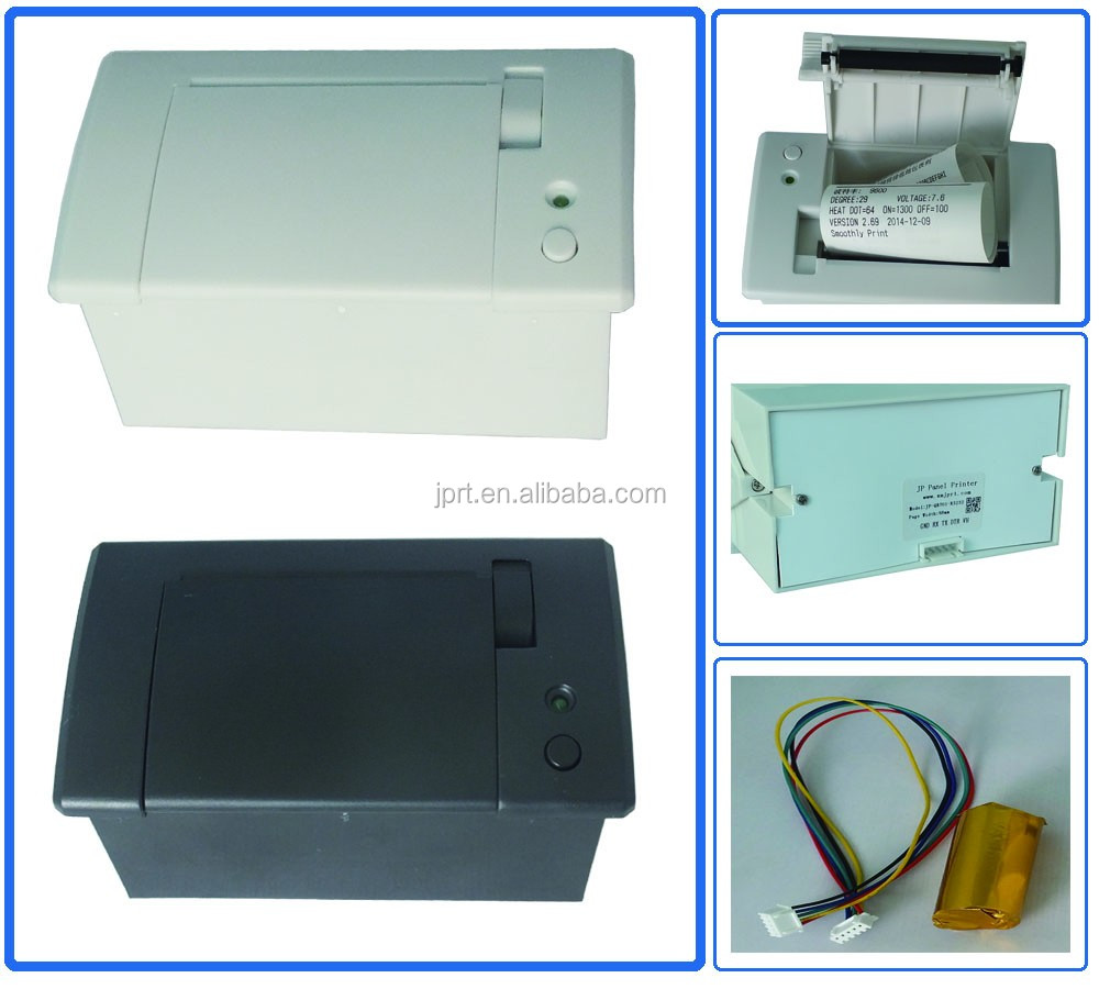 58mm 5-9V/12V embedded thermal barcode panel mount ticket ticket printing with USB/TTL/RS232