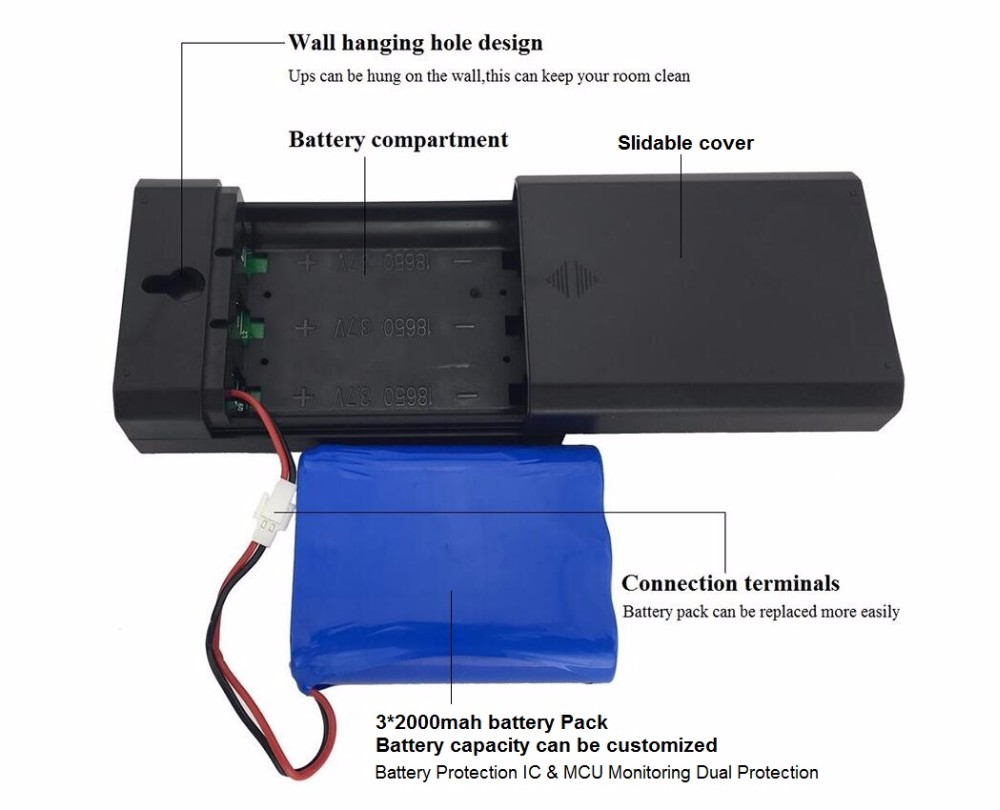 12V 24W ups with 5 hour backup portable power source