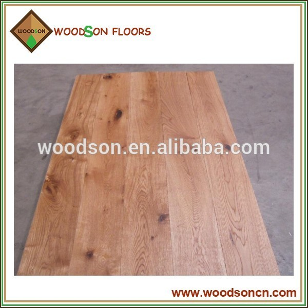 customzied wide plank engineered european oak flooring China manufacturer