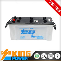 JIS Standard dry charge car battery N150 12V150AH