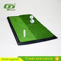 Portable custom mini driving and swing golf mat